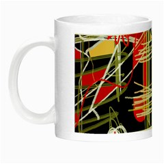 Artistic abstract pattern Night Luminous Mugs