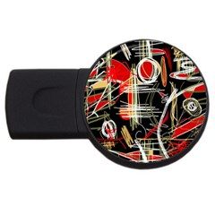Artistic abstract pattern USB Flash Drive Round (4 GB)