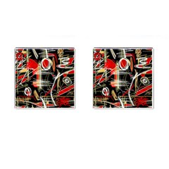 Artistic abstract pattern Cufflinks (Square)
