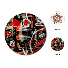 Artistic abstract pattern Playing Cards (Round)