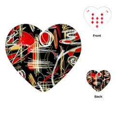 Artistic abstract pattern Playing Cards (Heart)