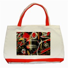 Artistic abstract pattern Classic Tote Bag (Red)