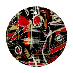 Artistic abstract pattern Round Ornament (Two Sides)