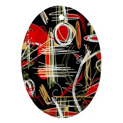 Artistic abstract pattern Oval Ornament (Two Sides)