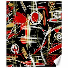 Artistic abstract pattern Canvas 8  x 10
