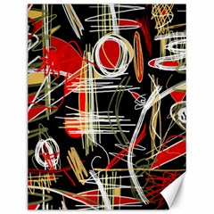 Artistic abstract pattern Canvas 12  x 16