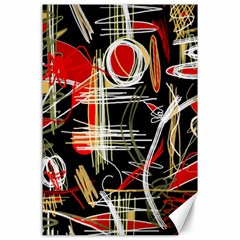 Artistic Abstract Pattern Canvas 24  X 36