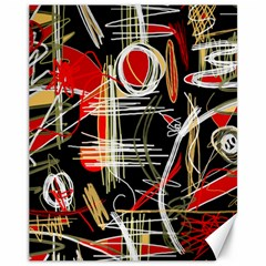 Artistic abstract pattern Canvas 11  x 14
