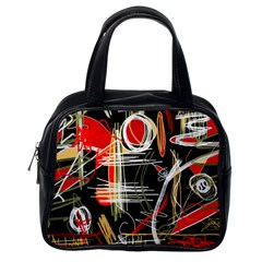Artistic abstract pattern Classic Handbags (One Side)