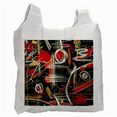 Artistic abstract pattern Recycle Bag (Two Side)