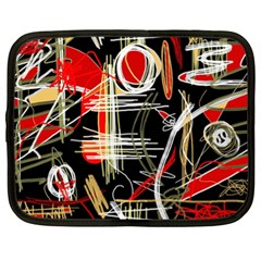 Artistic abstract pattern Netbook Case (XL)