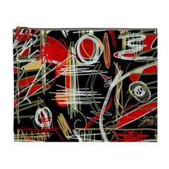 Artistic abstract pattern Cosmetic Bag (XL)