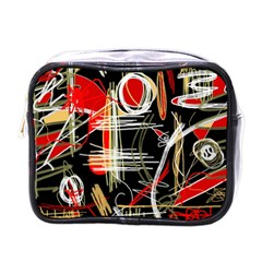 Artistic abstract pattern Mini Toiletries Bags