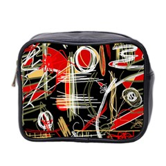 Artistic abstract pattern Mini Toiletries Bag 2-Side