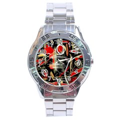 Artistic abstract pattern Stainless Steel Analogue Watch