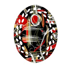 Artistic abstract pattern Oval Filigree Ornament (2-Side)