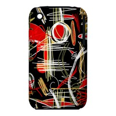 Artistic abstract pattern Apple iPhone 3G/3GS Hardshell Case (PC+Silicone)