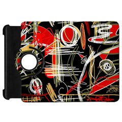 Artistic abstract pattern Kindle Fire HD Flip 360 Case