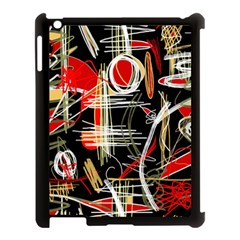 Artistic abstract pattern Apple iPad 3/4 Case (Black)