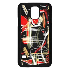 Artistic abstract pattern Samsung Galaxy S5 Case (Black)