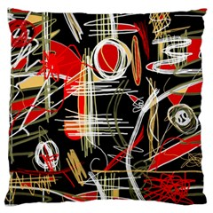 Artistic abstract pattern Large Flano Cushion Case (One Side)