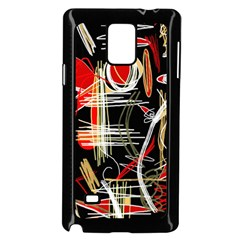 Artistic abstract pattern Samsung Galaxy Note 4 Case (Black)