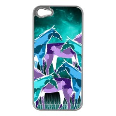 Horses Under A Galaxy Apple Iphone 5 Case (silver)