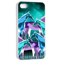 Horses Under A Galaxy Apple Iphone 4/4s Seamless Case (white)