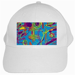 Colorful abstract pattern White Cap