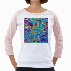 Colorful abstract pattern Girly Raglans