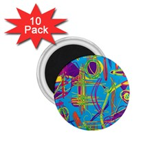 Colorful abstract pattern 1.75  Magnets (10 pack)
