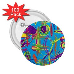 Colorful abstract pattern 2.25  Buttons (100 pack)
