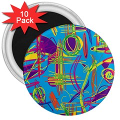 Colorful abstract pattern 3  Magnets (10 pack)