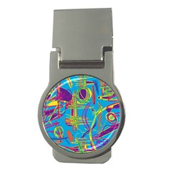 Colorful abstract pattern Money Clips (Round)