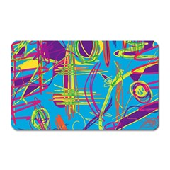Colorful abstract pattern Magnet (Rectangular)