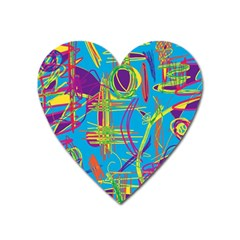 Colorful abstract pattern Heart Magnet