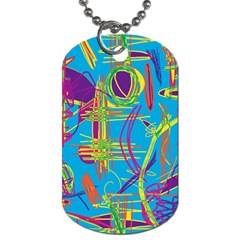 Colorful abstract pattern Dog Tag (Two Sides)