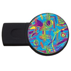 Colorful abstract pattern USB Flash Drive Round (2 GB)