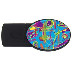 Colorful abstract pattern USB Flash Drive Oval (1 GB)
