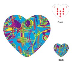 Colorful abstract pattern Playing Cards (Heart)