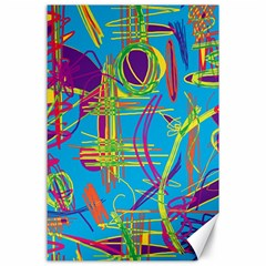 Colorful abstract pattern Canvas 24  x 36
