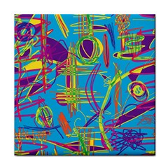 Colorful abstract pattern Face Towel