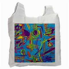 Colorful abstract pattern Recycle Bag (One Side)