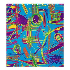 Colorful abstract pattern Shower Curtain 66  x 72  (Large)