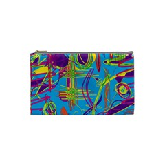 Colorful abstract pattern Cosmetic Bag (Small)