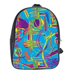 Colorful abstract pattern School Bags(Large)
