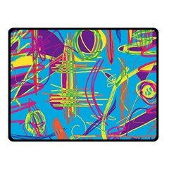 Colorful abstract pattern Fleece Blanket (Small)