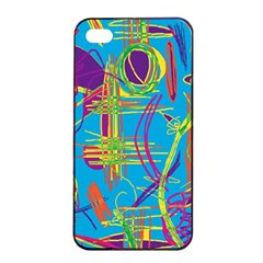 Colorful abstract pattern Apple iPhone 4/4s Seamless Case (Black)