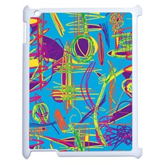 Colorful abstract pattern Apple iPad 2 Case (White)