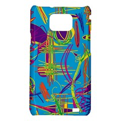 Colorful abstract pattern Samsung Galaxy S2 i9100 Hardshell Case